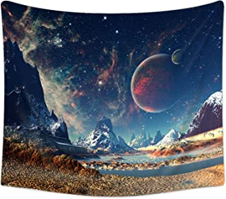 Sunm Boutique Tapestry Wall Hanging Wall Tapestry Galaxy Tapestry Planet Tapestry Psychedelic Tapestry Vintage Tapestry Home Decor(51.2