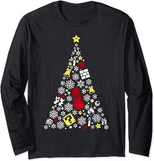 Items Star Christmas Tree Long Sleeve Tee