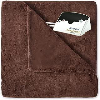Pure Warmth MicroPlush Electric Heated Blanket Full Chocolate