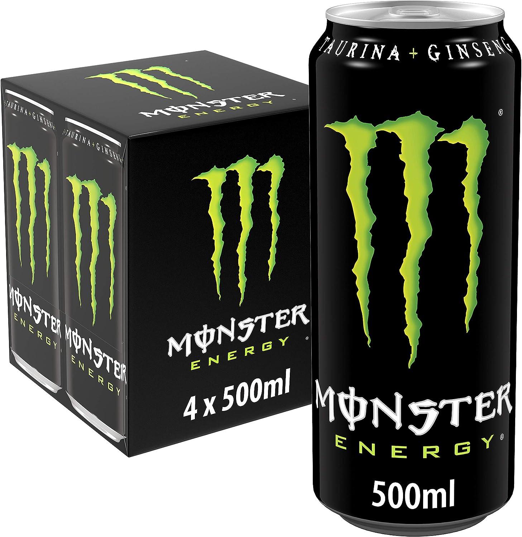 MONSTER ENERGY Original - Bebida energética - Pack de 4 latas 500 ml