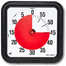 Time Timer 12 INCH, 60 minute visual analog timer with flip out legs and optional alert