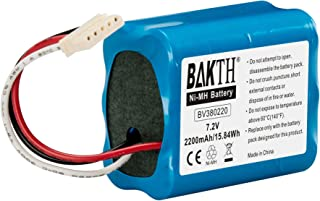 BAKTH 充電池 - Braava 380 / Mint Plus 5200 iRobot Braava ブラーバ交換用バッテリー 4449273 (7.2V 2200mAh ニッケル水素電池)