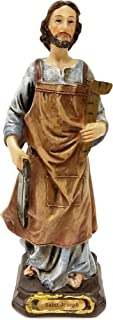 Biagio Saint Joseph The Carpenter Home Selling Kit Statue, 6-Inch Colored Figurine with Instructions and Prayer