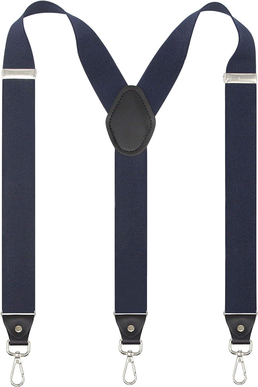Mens Suspender with Swivel Hooks Adjustable Braces Y Shaped Elastic Comfortable Braces Belt Loops Strap