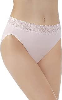 Vanity Fair Women's Flattering Lace Cotton Stretch Hi Cut Panty 13395