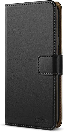 HOOMIL Handyhülle für Samsung Galaxy A5 2016 Hülle, Premium PU Leder Flip Schutzhülle für Samsung Galaxy A5 2016 Tasche, Schwarz