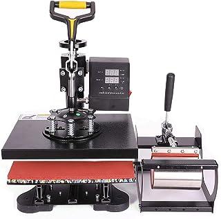 CO-Z 5 en 1 Máquina de Prensa de Calor Multifuncional 23X30CM 600W Prensa de Calor con Pantalla LED Prensa Térmica para Ca...