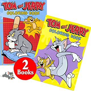 Hanna-Barbera Tom and Jerry Coloring and Activity Book Set (2 Books ~ 96 Pages)