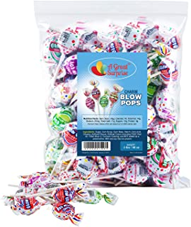 Halloween Candy - Charms Blow Pops, Assorted Flavors, Bubble Gum Filled Pops, 3 LB Bulk Candy