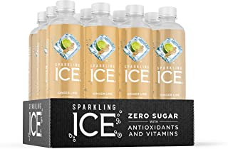 Sparkling Ice, Ginger Lime Sparkling Water, with antioxidants and vitamins, Zero Sugar,..