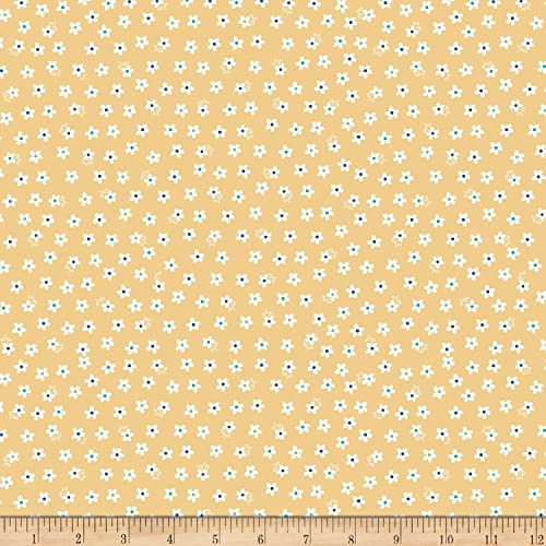 d5645b35bd9 Riley Blake Designs Riley Blake Days Jersey Knit Calico Daisy Yellow Fabric  by The Yard