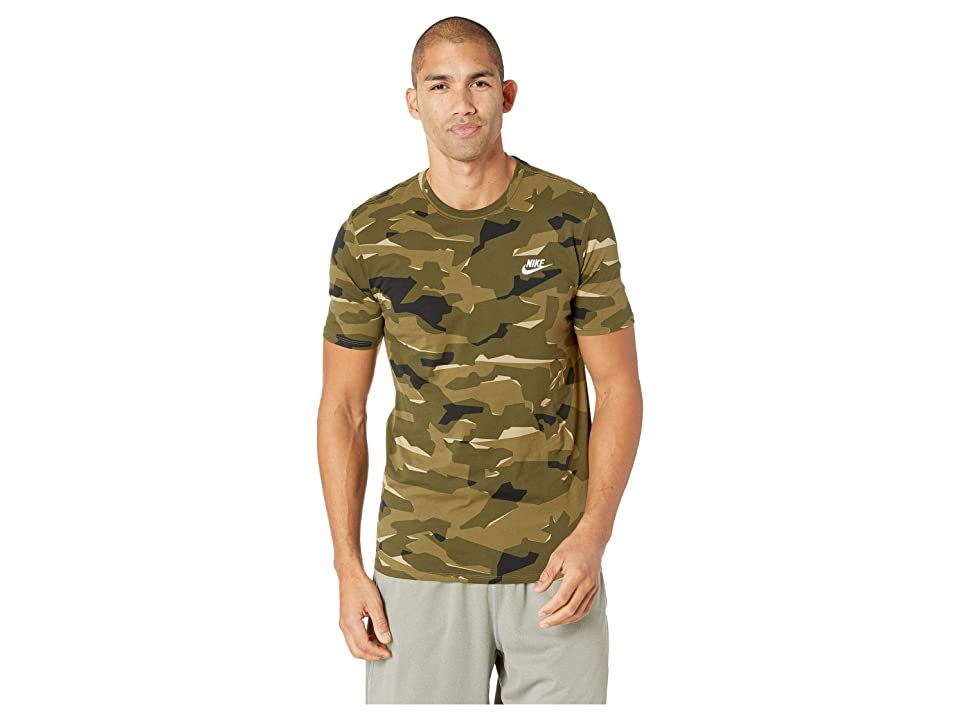 Nike NSW Tee Camo Pack 1 (Neutral Olive/Medium Olive/White) Men