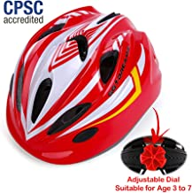 Kids Bike Helmet for Bicycle Cycling, Skateboard, Scooter – Adjustable Harness from Age 3 to 7 for Head Size 19.6-22 inch - Durable Toddler Kid Bicycle Helmets Boys and Girls Will Love