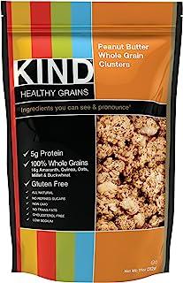 KIND Healthy Grains Clusters, Peanut Butter Whole Grain Granola, 10g Protein, Gluten Free, Non GMO, 11 Ounce Bags, 3 Count