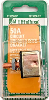 Littelfuse 0813050.XP 50A Stud Type Low Voltage Circuit Breaker with Mounting Bracket
