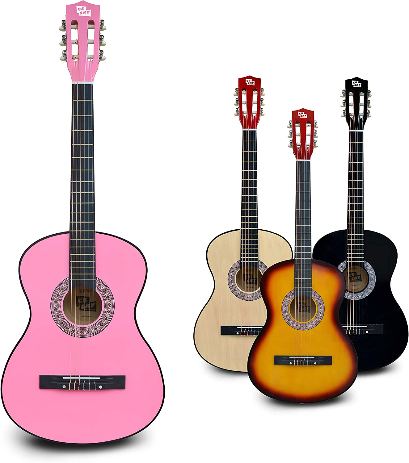 Pink CB SKY 38 Inches 96cm Pink Classical Guitar for Beginners ...