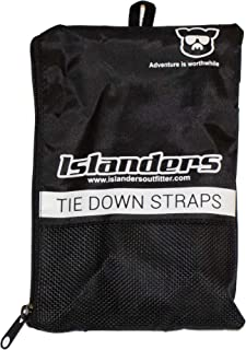 Islanders Tie Down Straps High Strength for Surfboards, SUP and Kayaks