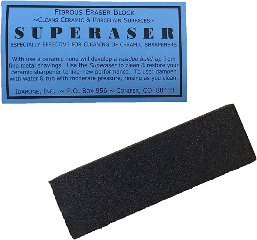 Idahone Superaser Fibrous Cleaning Block For Ceramic Sharpeners 2