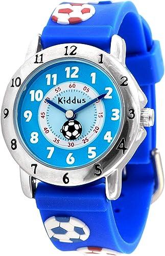 KIDDUS Montre Educative d'Haute Qualité pour Fille et garçon. Analogique, Bracelet, avec Exercices Time Teacher pour ...