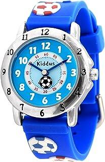 KIDDUS Montre Educative d'Haute Qualité pour Fille et garçon. Analogique, Bracelet, avec Exercices Time Teacher pour Appre...