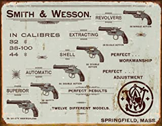 "Desperate Enterprises Smith & Wesson Revolvers Tin Sign, 16"" W x 12.5"" H"