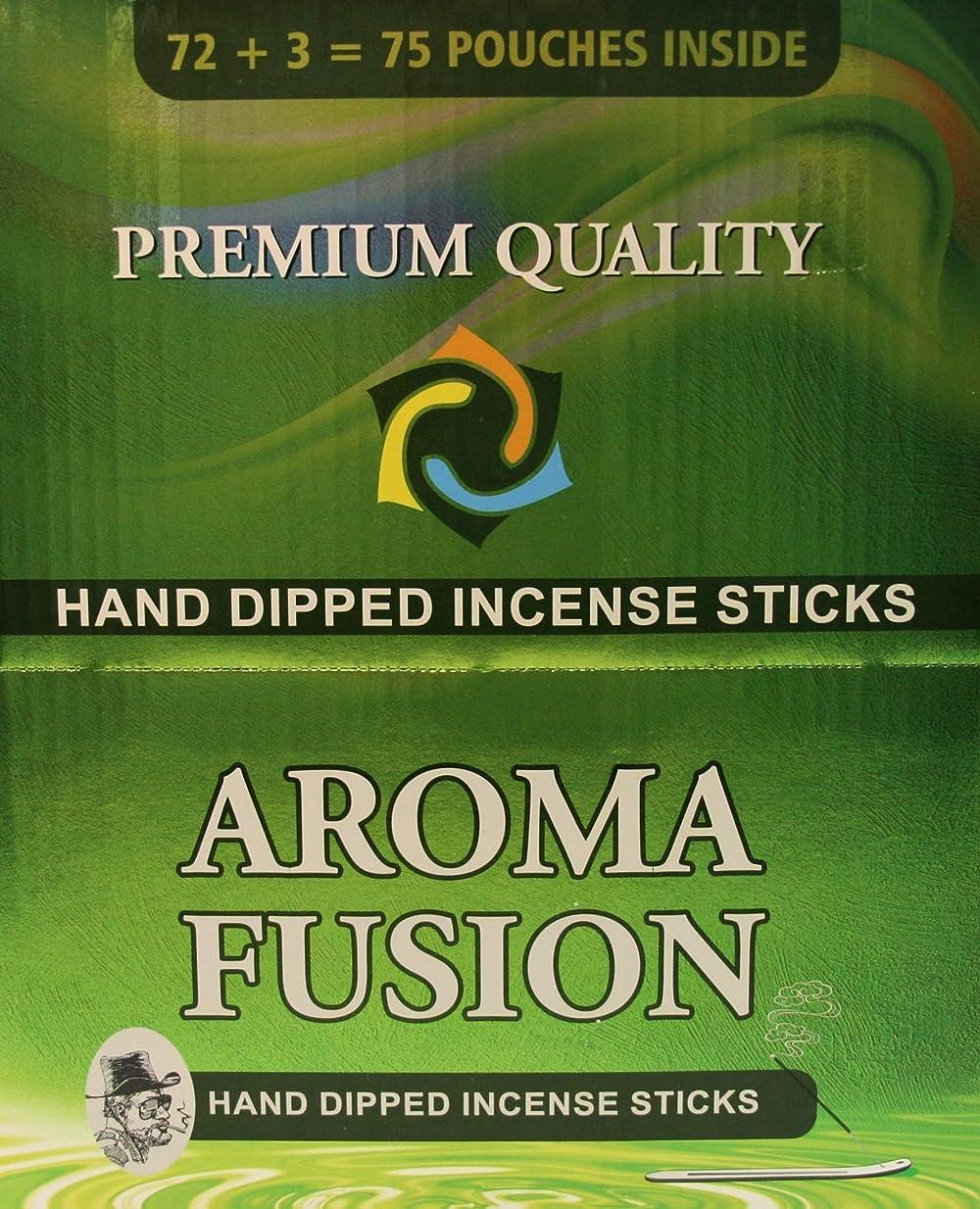 トピック繁栄雷雨アロマフュージョンプレミアム品質手染めお香スティック | 75種類ポーチ | 合計1,125本 | 20種類の香り | お香ディスプレイケース