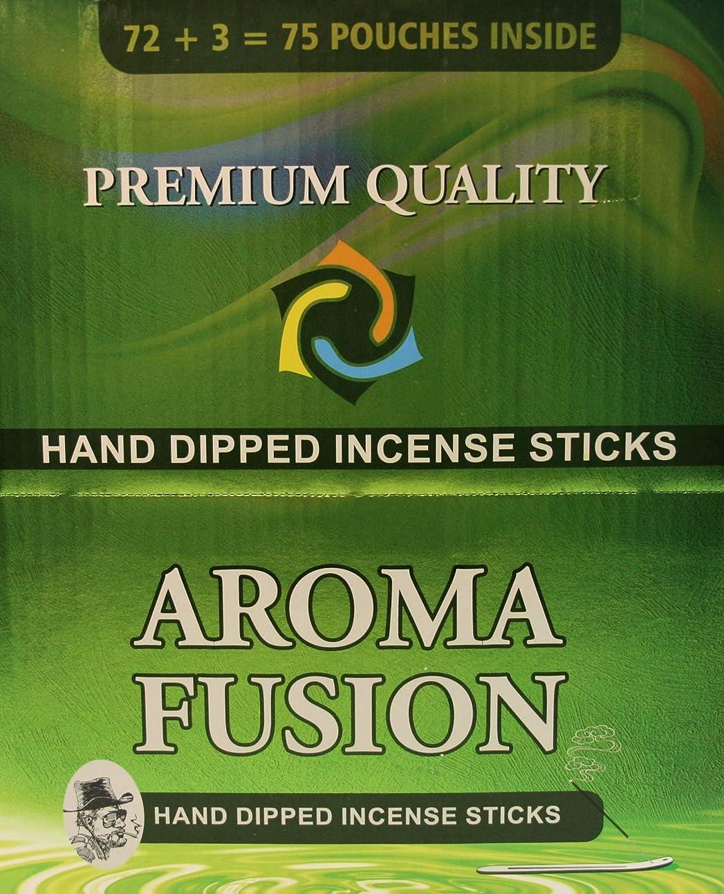 ライオネルグリーンストリートプロジェクター思慮深いアロマフュージョンプレミアム品質手染めお香スティック | 75種類ポーチ | 合計1,125本 | 20種類の香り | お香ディスプレイケース