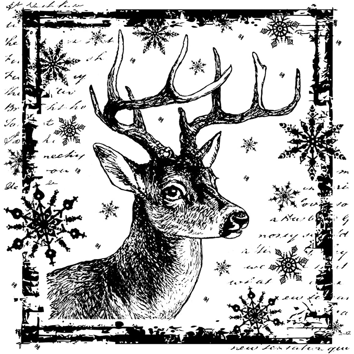 Crafty Individuals CI-332 Unmounted Rubber Stamp, Snowflake Rudolph