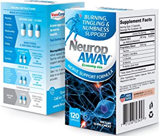 VasoCorp NeuropAWAY Neurop Pain Relief | 120 Capsules Nerve Pain Relief and neurop Pain Relief for feet, ne...