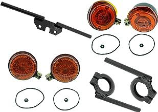 f Blinker Set pas Simson S51 S50 S70 mit Haltern schwarz E-Zeichen