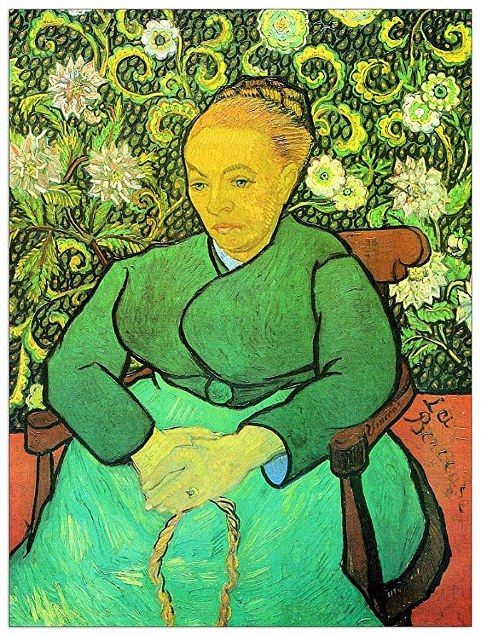 ArtPlaza TW91106 Van Gogh Vincent - La Berceuse (Augustine Roulin) Decorative Panel 27.5x35.5 Inch Multicolored
