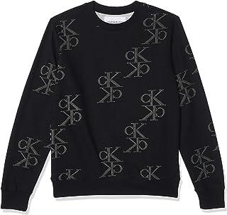 Calvin Klein Jeans Men's AOP Mirrored Monogram Cn Sweater