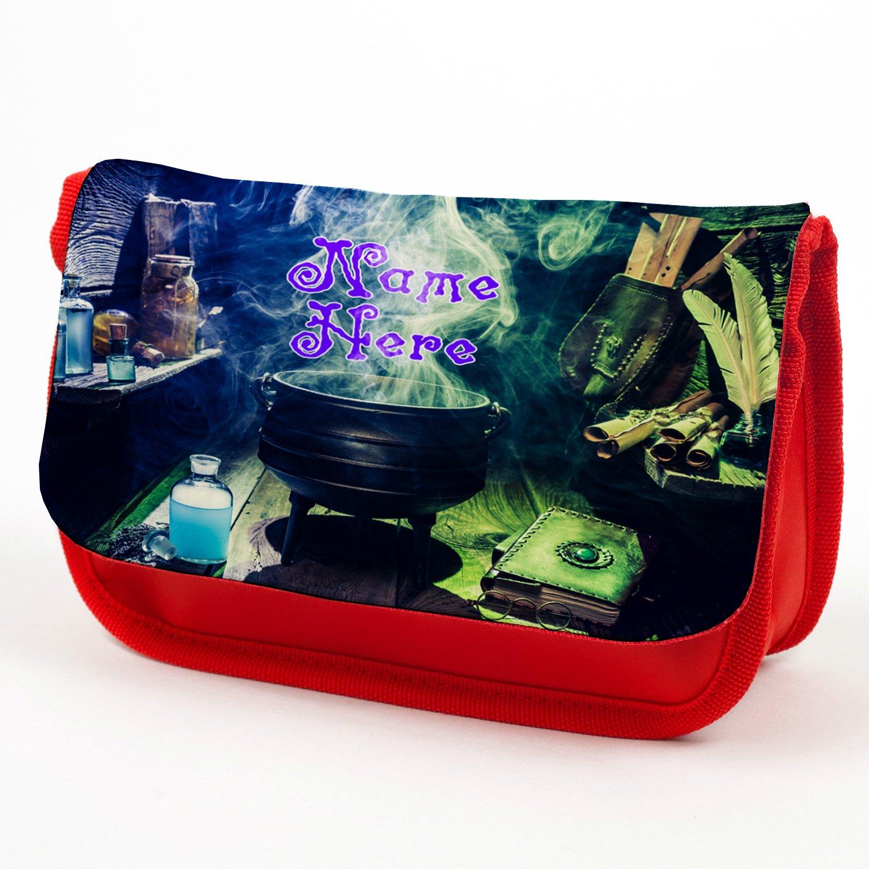 Estuche personalizado Witch Cauldron rojo mágico estuche de vuelta a la escuela regalo – rojo KS24: Amazon.es: Oficina y papelería