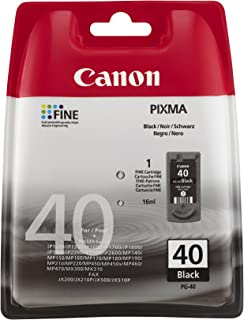 New Original/Genuine/OEM/Authentic Canon print ink toner cartridge compatible for Canon PIXMA iP 1600 1700 1800 2600 MP 150 160 170 180 210 450 460 470 MX 300 310 officepage ribbon FAX JX200 all-in-one inkjet printer, Actual and real Canon product, not cheap remanufactured/refurbished/refilled/recycled aftermarket officepage replacement