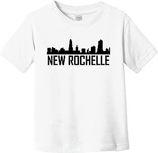 New Rochelle New York Skyline Silhouette Infant Toddler T-Shirt