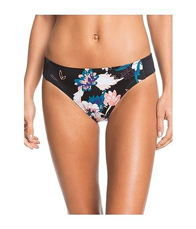 Roxy Fitness Print Full Bikini Bottoms (True Black Vallay) Women