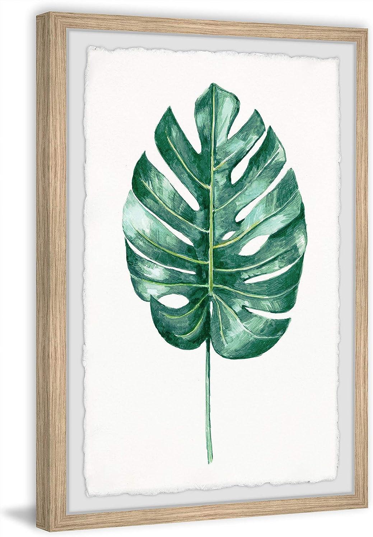 Amazon Com Marmont Hill Banana Leaf Portrait Framed Painting Print 16 X 24 Furniture Decor