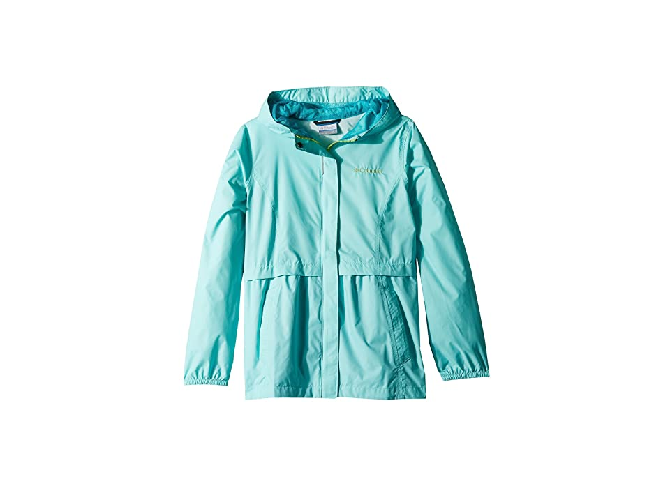 Columbia Kids Pardon My Trench Rain Jacket (Little Kids/Big Kids) (Candy Mint/Geyser) Girl