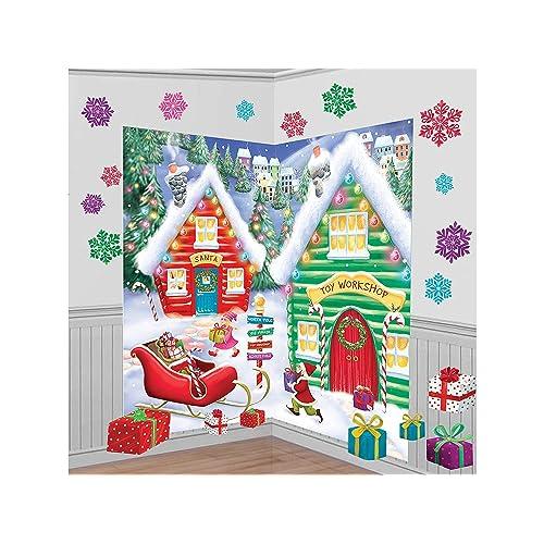 81f2f4fec80 Amscan Santa s Workshop Wall Decorations 32pc