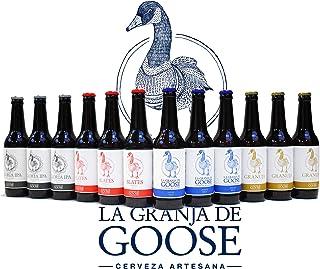 comprar comparacion Cervezas La Granja de Goose. Caja de 12 botellas 33cc. En 4 estilos. 3 Pale-Ale + 3 Blates + 3 Gloria-IPA + 3 Granuja