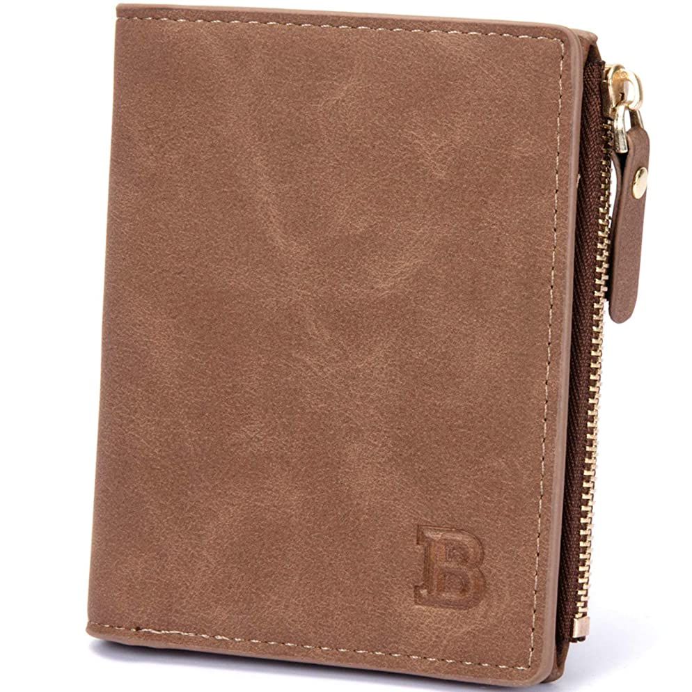 格納物理的にカタログAdisaer-PU レザー メンズ 男性用 財布 小銭財布 二つ折り カード入れ 記念日 誕生日 父親 彼氏 ギフト プレゼント 特別な贈り物
