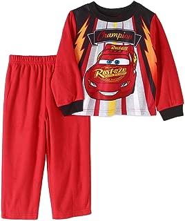 Toddler Boys Cars Lightning McQueen Pajamas- Poly Shirt & Fleece Pants (5T)