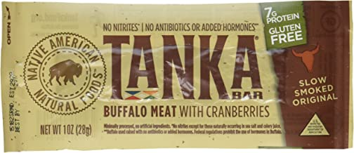 Bison Pemmican Meat Bars with Buffalo & Cranberries by Tanka, Gluten Free, Beef Jerky Alternative, Slow Smoked Original, 1...