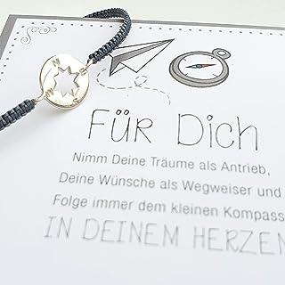 Armband Kompass 925 silber größenverstellbar