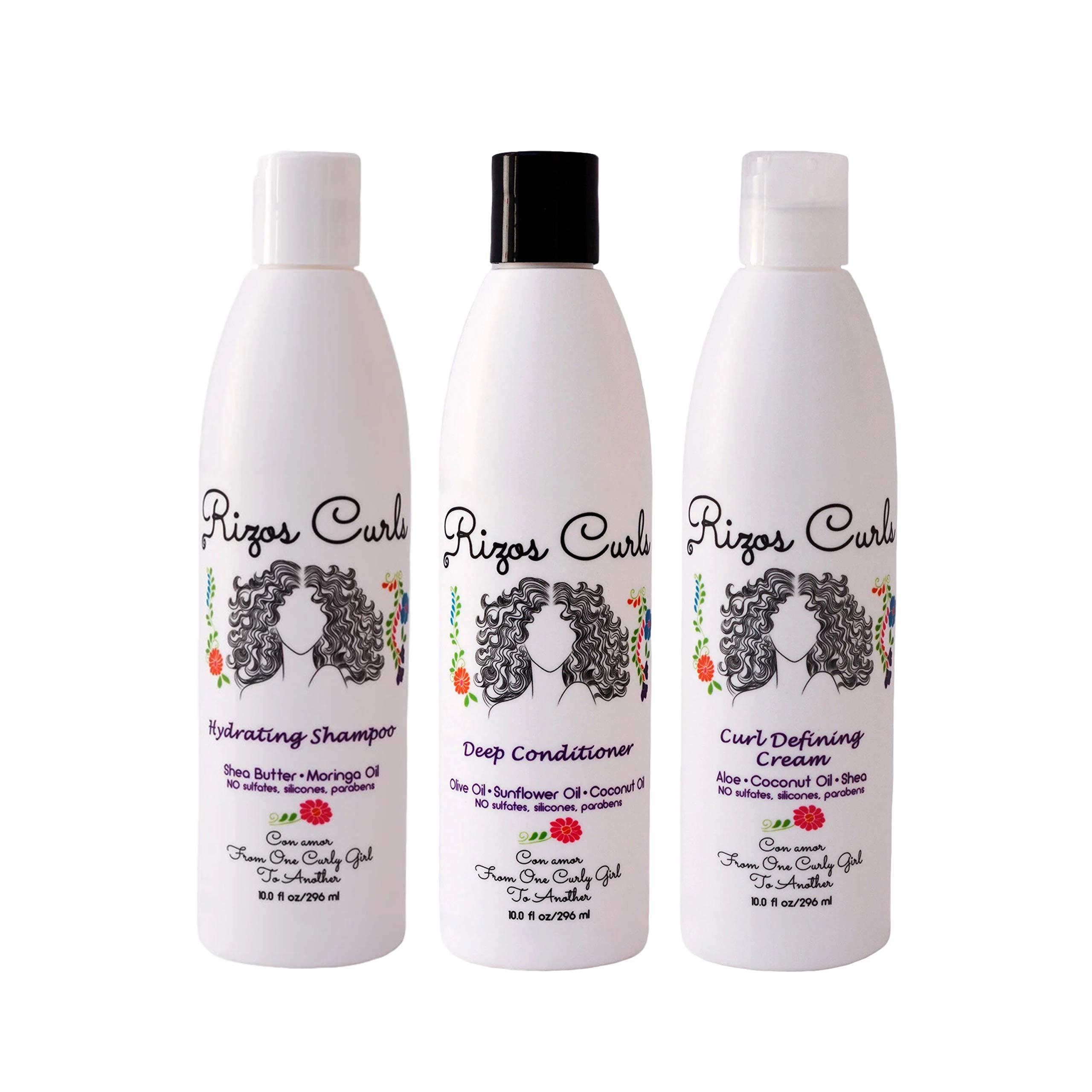 Rizos Curls Curly Hair Define Bundle Set One Hydrating Shampoo One ...
