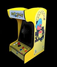 Retro Arcade Machine with 412 Games -Tabletop/Bartop - All The Classics - Perfect for Man Caves, Bars and Game Rooms! (Yellow)