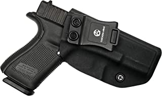 Cascadia Arms Glock 19/19X/23/32 (Gen 1-5) IWB Kydex Holster   Lightweight Comfort Concealment   Inside The Waistband Concealed Carry Holster   Adjustable Retention and Cant