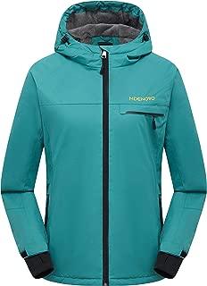 MDENOVO Women's Mountain Ski Jacket Waterproof Windproof Fleece Snow Winter Rain Coat