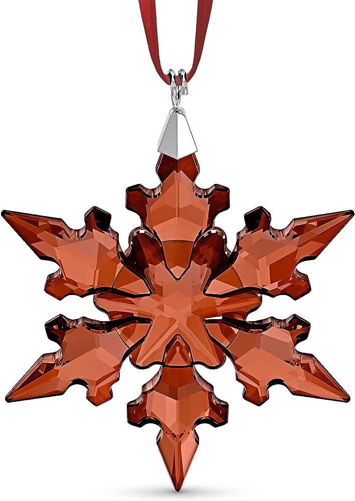 Swarovski ,holiday ornament, fiocco di neve di cristallo rosso scintillante 5527750