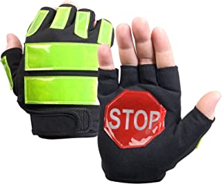 Brite Strike ITG-08L/XL Traffic Safety Gloves, Black, Large/Extra-Large
